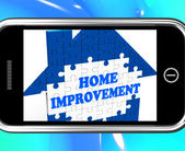 Home Improvement On Smartphone Shows Hiring Contractor — Stock Photo