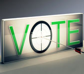 Vote Target Shows Options Or Choices — Stock Photo