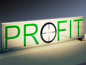 Profit Target Means Market And Trade Income — Stock Photo