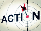 Action Shows Active Motivation Or Proactive — Stock Photo