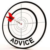 Destinazione consigli Mostra supporto aiuto e informazioni — Foto Stock