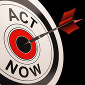 Act Now Shows Urgency To React — Stock Photo
