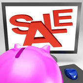 Sale On Monitor Showing Great Offers — Stock Photo