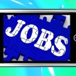 Stock Photo: Jobs On Smartphone Shows Vocational Guidance