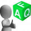 Faq Dice As Sign For Information Or Assisting — Stock Photo