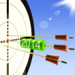 2014 Target Shows Business Plan Forecast — Foto de Stock
