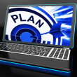 Plan On Laptop Showing Careful Planning — Stock Photo