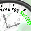 Stock Photo: Time For Success Message Shows Victory And Winning