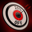 Stock Photo: 25 Percent Off Shows Markdown Bargain Advertisement