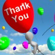 Stock Photo: Thank You Balloons Showing Thanks And Gratefulness