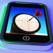 Dartboard On Smartphone Shows Effective Shooting — Stock Photo #27610961
