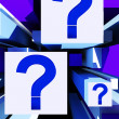 Stock Photo: Question Mark On Cubes Shows Uncertainty