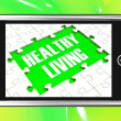 Healthy Living On Smartphone Showing Health Diet — Stock Photo
