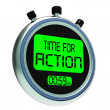 Foto de Stock  : Time for Action Clock Showing To Inspire And Motivate