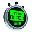 图库照片: Time for Action Clock Showing To Inspire And Motivate