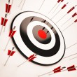 图库照片: Off Target Shows Aiming Mistake