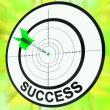 Stock Photo: Success Target Shows Development Ideas And Vision