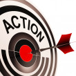 Action Means Acting Or Proactive — Stock Photo