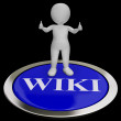 Wiki Button Shows Online Information Or Encyclopedia — Stock Photo #27611329