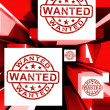 Wanted On Cubes Shows Needed — Stock Photo #27611339