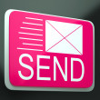 Send Envelope Shows Electronic Mailbox Internet Communication — ストック写真
