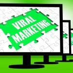 ������, ������: Viral Marketing On Monitors Showing Communities Advertisement