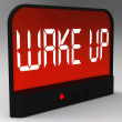 Foto Stock: Wake Up Clock Message Meaning Awake And Rise