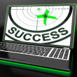 Success On Laptop Showing Successful Progress — Stock Photo #27611465