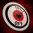 Stock Photo: 10 Percent Off Shows Markdown Bargain Advertisement