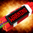 Stock Photo: Warning Dynamite Sign Meaning Caution Or Danger