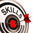 Stock Photo: Skills Target Shows Aptitude, Competence And Abilities