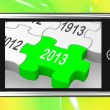 2013 On Smartphone Shows Next Year's Calendar — Stock Photo