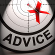 Advice Means Informed Help Assistance And Support — Stock Photo