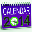 Stock Photo: 2014 Schedule Calendar Means Future Business Targets