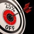 25 Percent Off Shows Discount Promotion Advertisement — Stock Photo