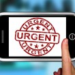 Stock Photo: Urgent On Smartphone Showing Immediate Need