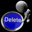 Stock Photo: Delete Button For Erasing Or Deleting Trash