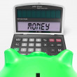 Money Calculator Shows Prosperity Revenue And Cash — Stock Photo #27612265