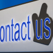 Stock Photo: Contact Us Button Shows Help And Guidance