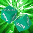 Chance, Win, Lose Dice Background Showing Gamble Losers — Stock Photo