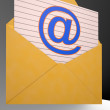 At Envelope Shows World Telecommunications Mail — ストック写真