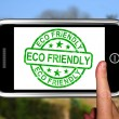 Eco Friendly On Smartphone Shows Recycling — Stock Photo