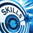 Skills Target Means Aptitude, Competence And Abilities — Stock Photo #27612337