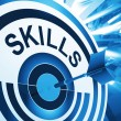 Skills Target Means Aptitude, Competence And Abilities — Stock Photo