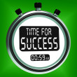 Stock Photo: Time For Success Message Means Victory And Winning