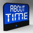 About Time Clock Showing Late And Tardiness — Stock Photo