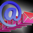 At Sign Envelope Shows Online Mailing Communication — ストック写真