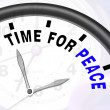 Time For Peace Message Shows Anti War And Peaceful — Stock Photo #27612505