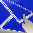 Envelope Button Showing Ongoing Emails — Stockfoto #27612515