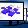 FAQ On Monitors Shows Frequently Asked — Stockfoto #27612563